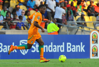 Didier Drogba, shown here representing Ivory Coast, is likely headed to Galatasaray before February 1.