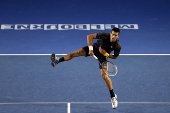 Djokovic found success when he came to net, winning 35 total points.