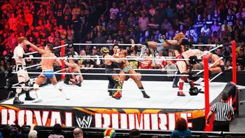 The Shield was nowhere to be seen during the Rumble match. (photo credit: wwe.com)
