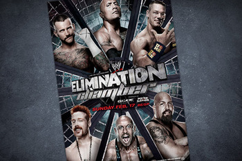 WWE Promotional Poster of Elimination Chamber.  Courtesy of wwe.com