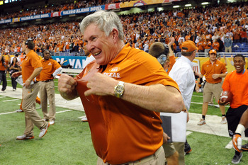 Head coach Mack Brown