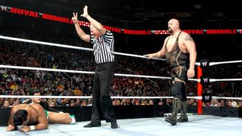 Big Show lost again to Del Rio, so maybe he will challenge The Rock. (photo credit: wwe.com)