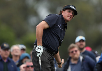 There are plenty of anxious moments when Phil Mickelson lets it fly.