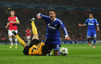 Schalke's on-loan winger Ibrahim Afellay has been ruled out for two months.