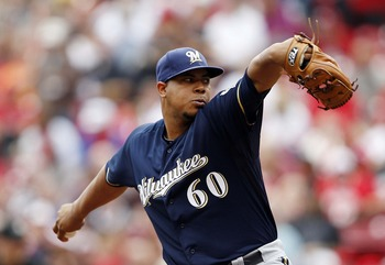Milwaukee Brewers top pitching prospect Wily Peralta posted a 2.25 ERA in five starts last year.
