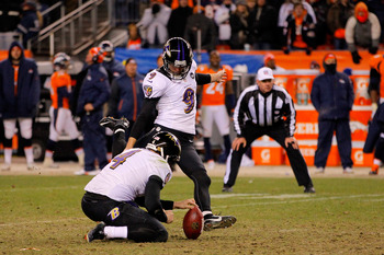 Tucker nailed this kick to send Baltimore to the AFC title game.