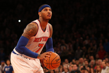 New York Knicks' Carmelo Anthony