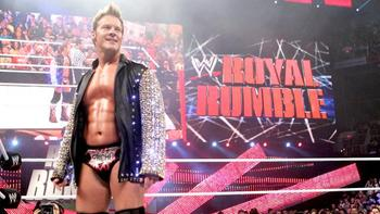 Chris Jericho surprised everyone by entering at No. 2. Photo by: WWE