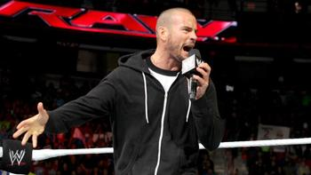 CM Punk was irate at the start of Raw. Photo by: WWE