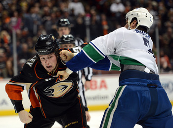 Kevin Bieksa has been a physical force this season.
