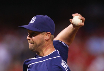 ST. LOUIS, MO - MAY 22: Reliever Matt Palmer #40 of the San Diego Padres pitches against the St. Louis Cardinals at Busch Stadium on May 22, 2012 in St. Louis, Missouri.  (Photo by Dilip Vishwanat/Getty Images)