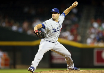 PHOENIX, AZ - SEPTEMBER 11:  Relief pitcher Paco Rodriguez #75 of the Los Angeles Dodgers pitches against the Arizona Diamondbacks during the MLB game at Chase Field on September 11, 2012 in Phoenix, Arizona. The Diamondbacks defeated the Dodgers 1-0. (Ph