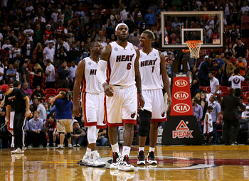The big three of the Heat have been a heavily discussed group the last three seasons.
