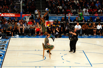 Jeremy Evans won the 2012 Slam Dunk Contest by jumping over Gordon Hayward.