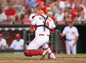 Devin Mesoraco was a good defensive catcher as a rookie, but he needs to improve his production at the plate.
