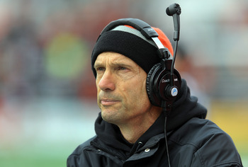 Oregon State head coach Mike Riley