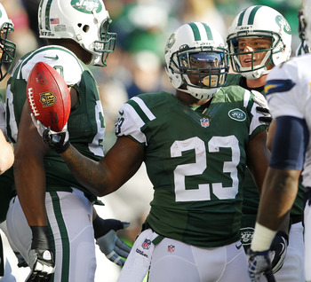 Running back Shonn Greene's return to the Jets is questionable