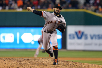 Sergio Romo struck out Miguel Cabrera to end the 2012 World Series.