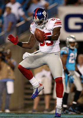 Bennett celebrating a touchdown in the Giants' 36-7 Week 3 victory over the Carolina Panthers.