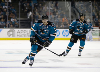 Sharks forward Patrick Marleau leads the league in goals and points.