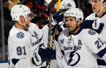 Forwards Steve Stamkos and Martin St. Louis have led the Bolts to a hot start.
