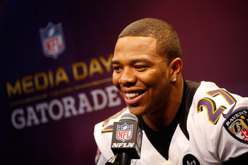 Ray Rice will play in his first Super Bowl in New Orleans on Sunday.