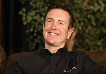 CONCORD, NC - JANUARY 22:  Kurt Busch, driver for Furniture Row Racing, speaks to the media during the 2013 NASCAR Sprint Media Tour on January 22, 2013 in Concord, North Carolina.  (Photo by Streeter Lecka/Getty Images for NASCAR)