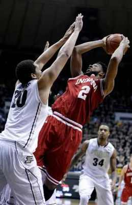 Senior forward Chrstian Watfod contributed 17 points to the Hoosiers' high octane offense (photo credit:http://www.ctpost.com).
