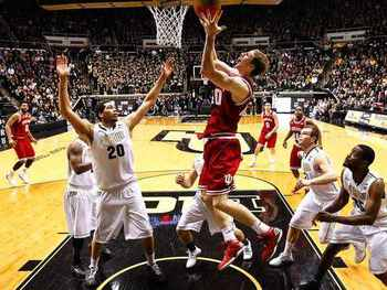 Cody Zeller snagged 11 rebounds in the blowout victory at Purdue (photo credit:http://www.usatoday.com).