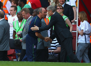 Arsene Wenger and Tony Pulis are not the best of friends.
