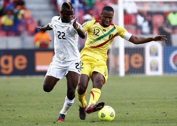 Seydou Keita (right) was Mali's best player during the Group Stage.