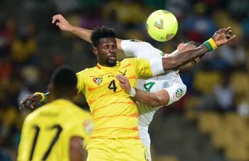Emmanuel Adebayor has helped Togo reach the knockout stages at a major tournament for the first time.