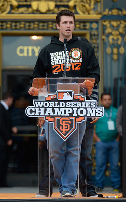 Posey gave a lot of speeches after his MVP season.