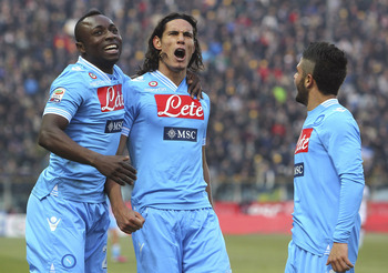 Cavani is still wearing sky blue, all right, but not for Manchester City.