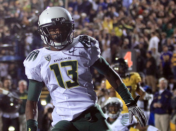 Cliff Harris after a memorable punt return against Cal in 2010