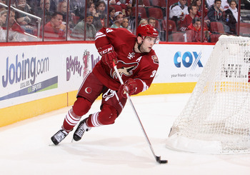 The Coyotes Keith Yandle is one of the better skaters on the team, but many of his teammates struggle keeping up with a faster pace of play