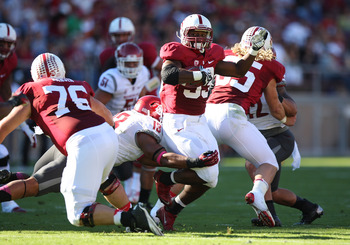 Darryl Monroe makes a tackle vs Stanford
