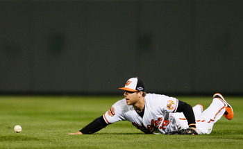 Chris Davis shouldn't be in the field.