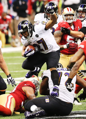 Ray Rice had an up and down day, but was able to keep it together to help propel his offense to a Super Bowl victory.