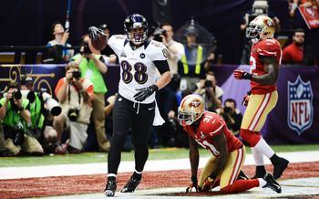 Dennis Pitta certainly made his presence felt during the Super Bowl.