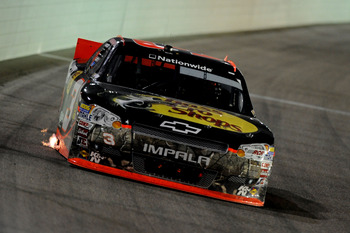 HOMESTEAD, FL - NOVEMBER 17:  Austin Dillon, driver of the #3 Bass Pro Shops Chevrolet, drives during the NASCAR Nationwide Series Ford EcoBoost 300 at Homestead-Miami Speedway on November 17, 2012 in Homestead, Florida.  (Photo by Jared C. Tilton/Getty I