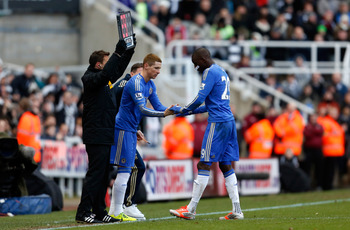 Torres replaced the injured Ba just before halftime.