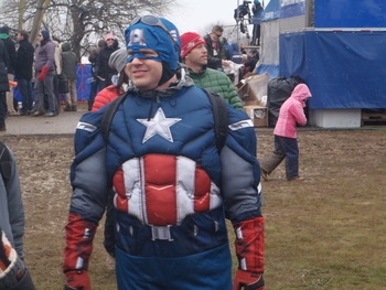 Captain America couldn't power the American cyclo-cross Dream Team on to the podium, though I did see him drinking beer with the Red Skull.