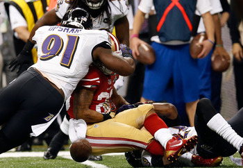 LaMichael James' second-quarter fumble proved to be costly for the 49ers.