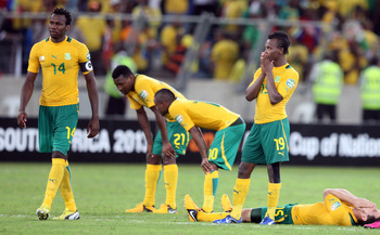 South Africa are out of the African Cup of Nations.