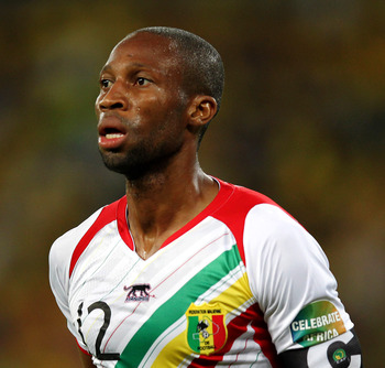 Mali goalscorer and captain Seydou Keita