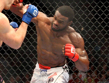 Woodley in his last Strikeforce fight.