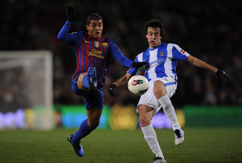 Jonathan Dos Santos at FC Barcelona vs. Real Sociedad