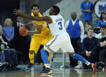 UCLA's Jordan Adams on defense.