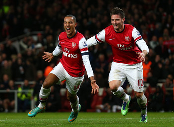 Olivier Giroud and Theo Walcott are an ideal combination.